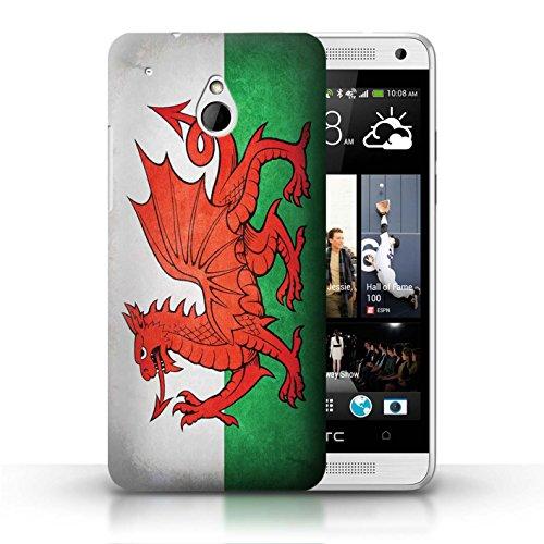 Kobalt® Imprimé Etui / Coque pour HTC One/1 Mini / Pays de Galles/gallois conception / Série Drapeau Pays de Galles/gallois