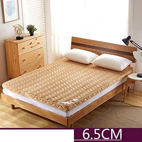 WJXBoos Memory-Schaum Matratzenauflage, Dick Tatami Schlafen Pad Druck-entlastung Stock-matratze Home Schlafsaal Rollen-bis Bett-Topper-Gold 100x200cm(39x79inch) -