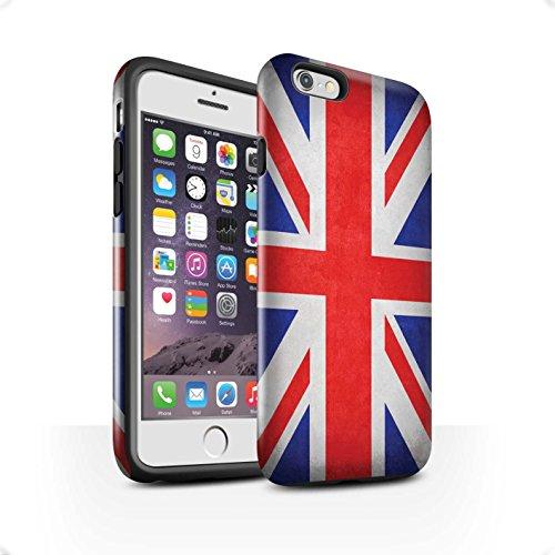 STUFF4 Glanz Harten Stoßfest Hülle / Case für Apple iPhone 7 / Russland/Russische Muster / Flagge Kollektion Großbritannien/Britische