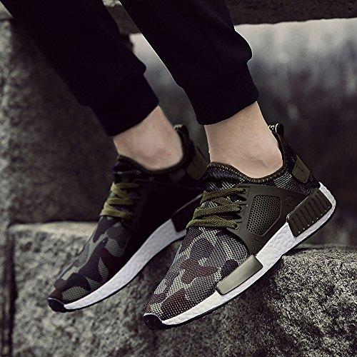 XIANV Beiläufige Schuhe Art und Weisemänner Schuhe Hombre Sneaker Armee Grüne Männer Beschuht Beiläufige Tarnungsschuhe Grün