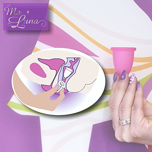 Me Luna Menstruationstasse Classic, Ring, Violett, Größe XL - 2