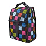 Eizur Freezable Lunch Bags Insulated Cool Bag Lunchbox Container Foldable Picnic Cooler Snack Tote Bag Travel Zipper Organizer Hand Bag Ice Pack with Zip Closure 5 Colors Optional