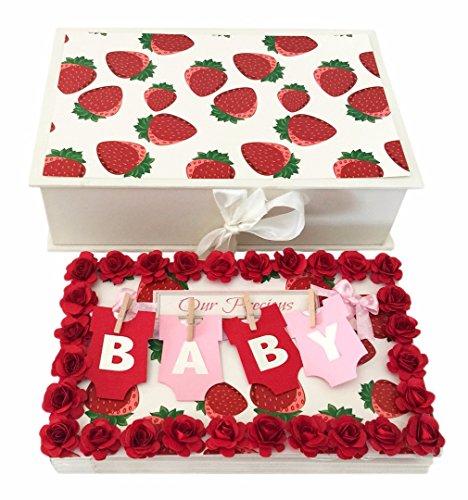Crack of Dawn Crafts-Baby Handmade Photo Album Message Book - Strawberries