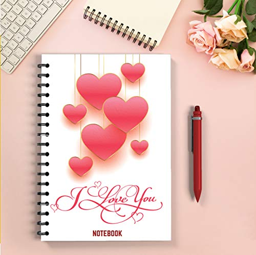 I LOVE YOU Notebook: Notebook about Love, is a special product for lovers around the world. Used to record and develop an active life plan.  cover: heart ... inscription. size: 6*9. (English Edition)