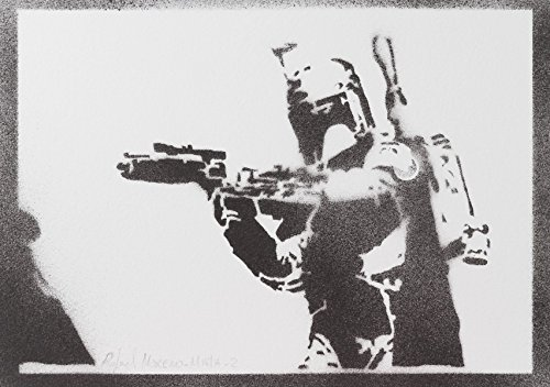 Boba Fett STAR WARS Handmade Street Art - Artwork - Poster