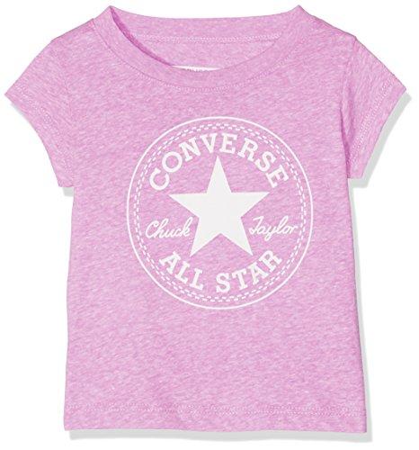 Converse Baby-Mädchen Chuck Patch Tee T-Shirt, Pink (Fuchsia Glow Snow Heather P2K), 0-12 (Hersteller Größe:12 Monate) (Bekleidung Kinder Converse)