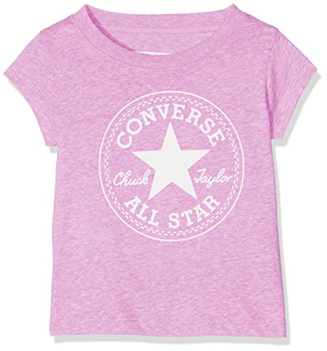 Converse Converse Baby-Mädchen T-Shirt Chuck Patch Tee Pink (Fuchsia Glow Snow Heather P2K), 0-12 (Hersteller Größe:12 Monate)