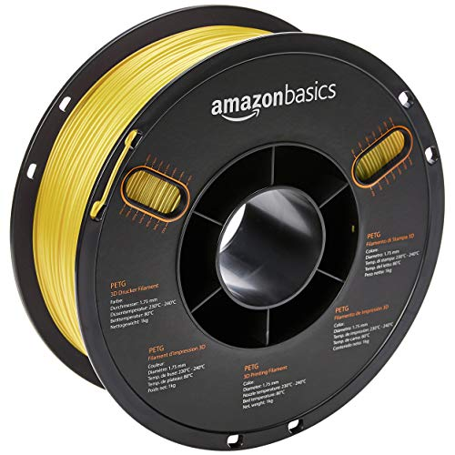 AmazonBasics – Filamento de PETG para impresora 3D, 1,75mm, Amaril