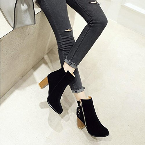Chaussures homme FEIFEI printemps et l'automne mode haute aide Martin chaussures 3 couleurs (Couleur : Noir, taille : EU42/UK8.5/CN43)