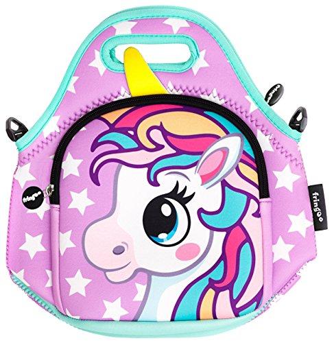 Borsa pranzo per bambini fringoo® borsa termica in neoprene borsa termica coibentata borsa a tracolla con cerniera borsa per scuola materna borsa refrigeratore