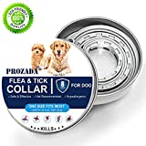 PROZADA [New Formula] Flea and Tick Collar for Dogs Waterproof, Anti Flea Collar