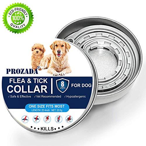 PROZADA [Nueva Fórmula] Collares Antiparasitario para Perros Impermeable, Garrapatas y Mosquitos, Tamaño...