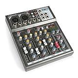 Vonyx VMM-F401 4-Kanal Music Mixer USB-Player AUX-IN +48V Phantomspeisung
