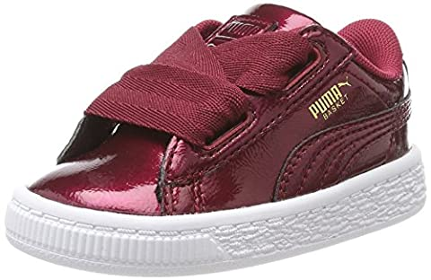 Puma Basket Heart Glam Inf, Sneakers Basses Mixte Enfant, Rouge (Tibetan Red-Tibetan Red), 22 EU