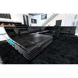 Diseño Conjunto de Muebles Para Salón Turino XXL con iluminación LED