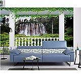 3D Foto Fototapete Wasserfall Landschaft Tapete Für Wände 3D Fototapete Tapete Für Wohnzimmer, 430X300 Cm (169.29X118.11 In)