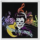 3drose Rock und Roll Skull Elvis–Karten, 6by Foto, 6Stück (GC 18914_ 1)