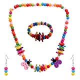 NeedyBee Multi-Colour wood Necklace Set ...