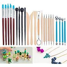 ... talla de ceramica - Incluye moldeadores de color arcilla, herramientas de modelado y cuchillo de escultura de madera para profesionales o principiantes