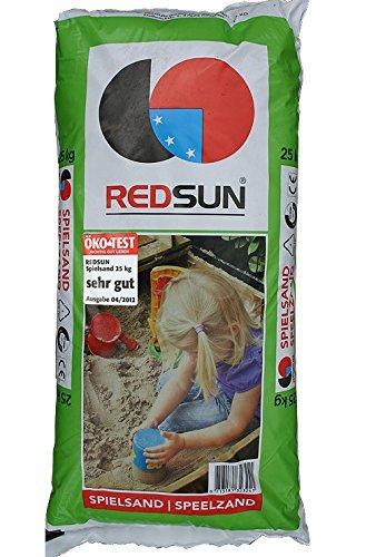 Doubleyou Geovlies & Baustoffe Spielsand für Sandkasten Sand 0-2mm gewaschen inkl. Sandkastenschutzvlies schwaz, weiß oder braun (25 kg)