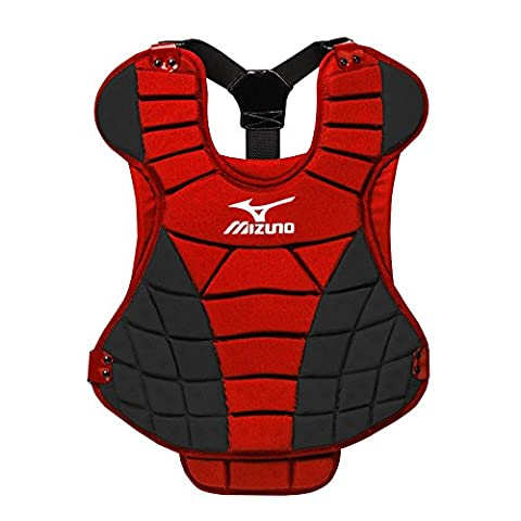 Mizuno Womens Fastpitch Samurai Chest Protector Red/Black 13
