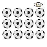 Tavolo Calcio Foosballs di ricambio, Mini Nero e Bianco 36mm ufficiale biliardino Confezione da 12 immagine
