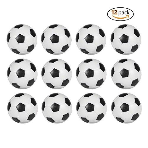 Palline di ricambio ufficiali per calcio balilla, bianche e nere, 36mm, confezione da 12