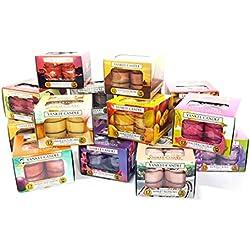 Yankee Candle - 3paquetes de velas de té, diferentes fragancias, 36 unidades