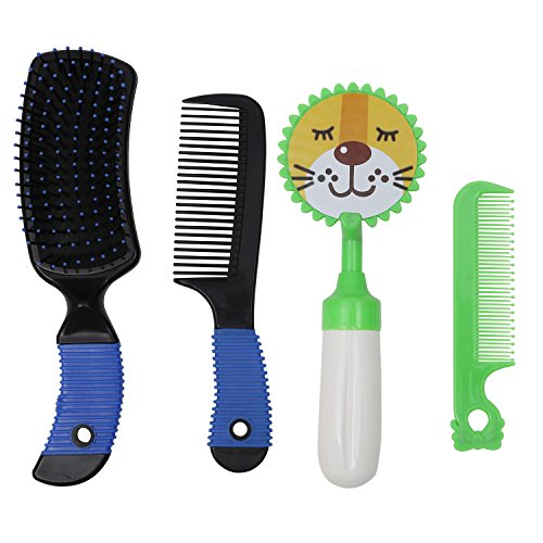 Livzing Hair Brush And Comb Set With Super Soft Bristles For Babies And Adults - Assorted Colour