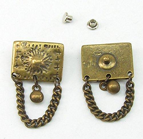 1 Zierniete Metall Applikatione Zierteil Trachten altmessing 05.40/287