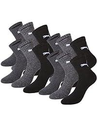 Puma Short Crew Socks Semelle en éponge Pack de 12Chaussettes de sport, Homme, Short Crew Socks Sportsocken mit Frotteesohle 12er Pack