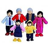 Hape E3502 Puppenfamilie, asiatisch