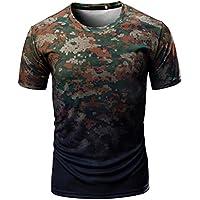 Manadlian [New Arrival Design] Herren Camouflage T-Shirt Beiläufig Tarnung Drucken O Hals Kurz T-Shirt Oberteile... preisvergleich bei billige-tabletten.eu