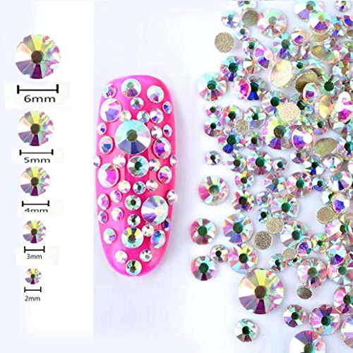 450 Pcs Sensail Flatback Strass Crystal Gemmes Diamants pour ongles Nail art