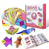 Gamenote Buntes Origami-Papier mit 55-seitigem Lehrbuch 118 doppelseitigen, lebendigen Origami-Papieren 54 Bastelprojekte Weihnachten Origami DIY Kunst für Kinder