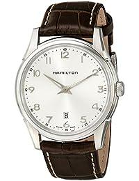 Hamilton Reloj Analógico de Automático para Hombre, correa de cuero, color Marron oscuro