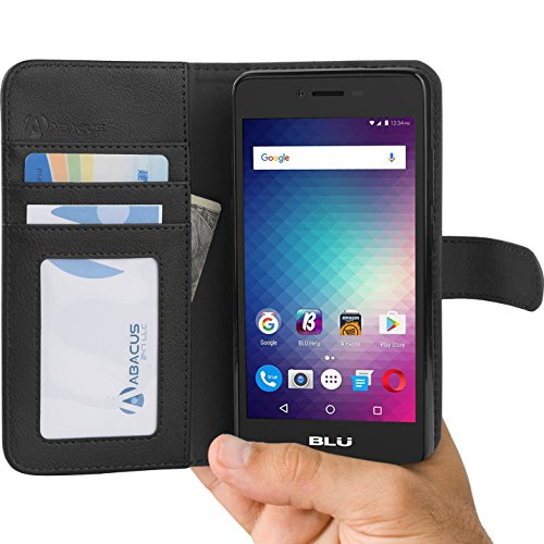 blu-studio-g-hd-lte-case-by-abacus24-7r-wallet-with-leather-flip-cover-credit-card-pockets-and-stand
