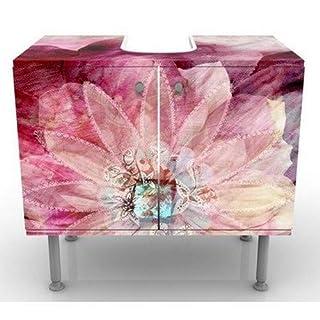 Apalis 53594 Waschbeckenunterschrank Grunge Flower, 60 x 55 x 35 cm