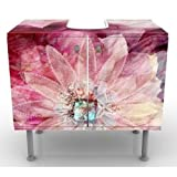 Apalis Design Vanity Grunge Flower 60x 55x 35cm, Piccolo, Largo 60cm, Regolabile, lavandino, lavabo, Rubinetto per lavabo da Bagno, Armadio, unità di Base, Bagno, Narrow, Flat
