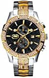 Marc Ecko M1 Mens Watch E23501G1 with Black Dial and 2 Tone Bracelet Strap