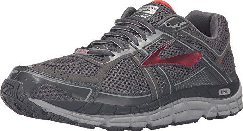 Brooks Men's Addiction 12 Anthracite/High Risk Red/Silver Sneaker 9 4E - Extra Wide (Brooks 4e)