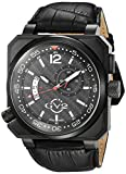 GV2XO Submarine Herren Schweizer Quarz Schwarz Lederband Uhr