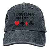 Even Fold Laundry Poker Adjustable Hip-Hop Cotton Washed Denim Caps Ash