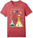 United Colors of Benetton Boys' T-Shirt (17A3NEPCZS22I07C2Y_Maroon)