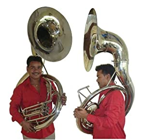 Jumbo 24-inch Bell Zweiss BBb Sousaphone. Full Brass. Terrific Sound!