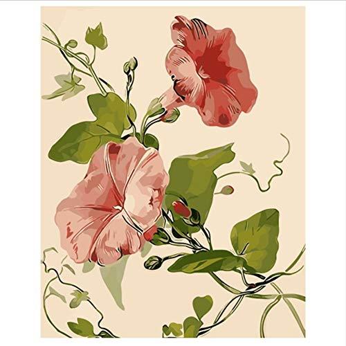WYTTT Moming Herrlichkeit Ölgemälde Bilder Nach Zahlen Chrysantheme Rose Digitale Bilder Coloring Von Hand Einzigartige Geschenke Home Decoration 40X50Cm (Herrlichkeit Haus)