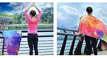 Dicke Rutschfeste Yoga Handtücher, Rutschfest Saugfähig Und Hitzebeständig Doxungo Premium Yogatuch, Yoga Towel Mit Dem Verschiedenen Und Schönen Druck (P) 4