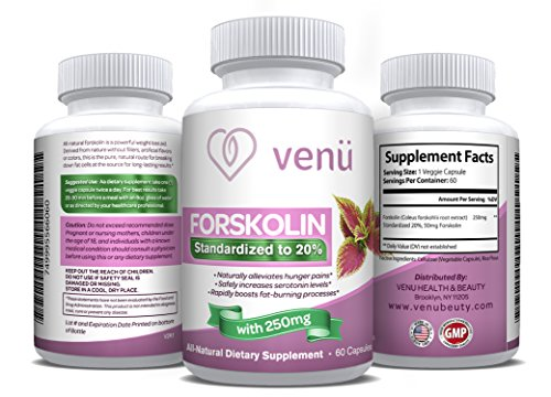 51ok3qCnXkL - NO.1 BEST BUY Venü Beauty All-Natural Forskolin - 60 Veggie Capsules with Pure Forskolin Extract -Dietary Supplement for Fast Weight Loss, Boosted Metabolism & Healthy Blood Pressure price Review uk