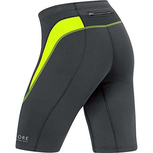 Gore Running Wear Essential, Collant Corto Da Corsa Per Uomo Nero (Nero/Giallo Neon)