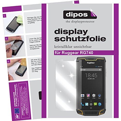 dipos I 6X Schutzfolie klar passend für Ruggear RG740 Folie Displayschutzfolie